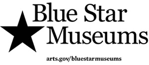 Blue Star Museums logo with arts.gov/bluestarmuseums URL