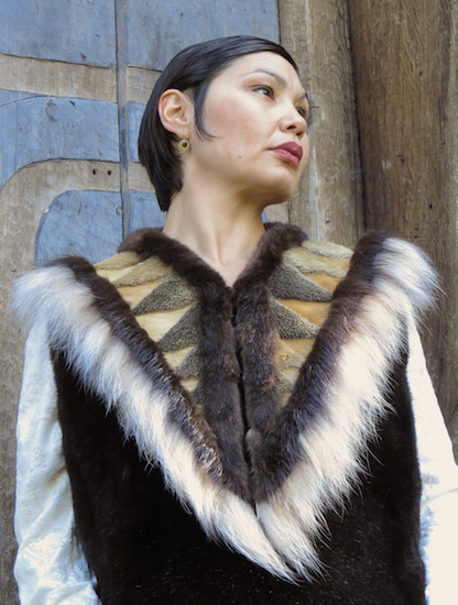 a vest made from sea mammal fur