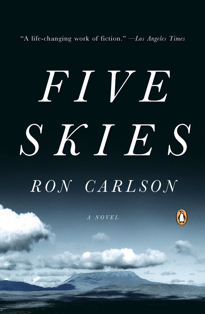 Five Skies cover: photo of a western landscape with the sky taking a large area of the picture
