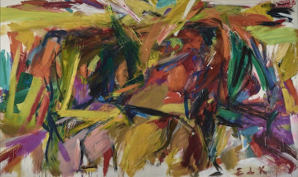 the abstract expressionist work Bullfight by Elaine de Kooning