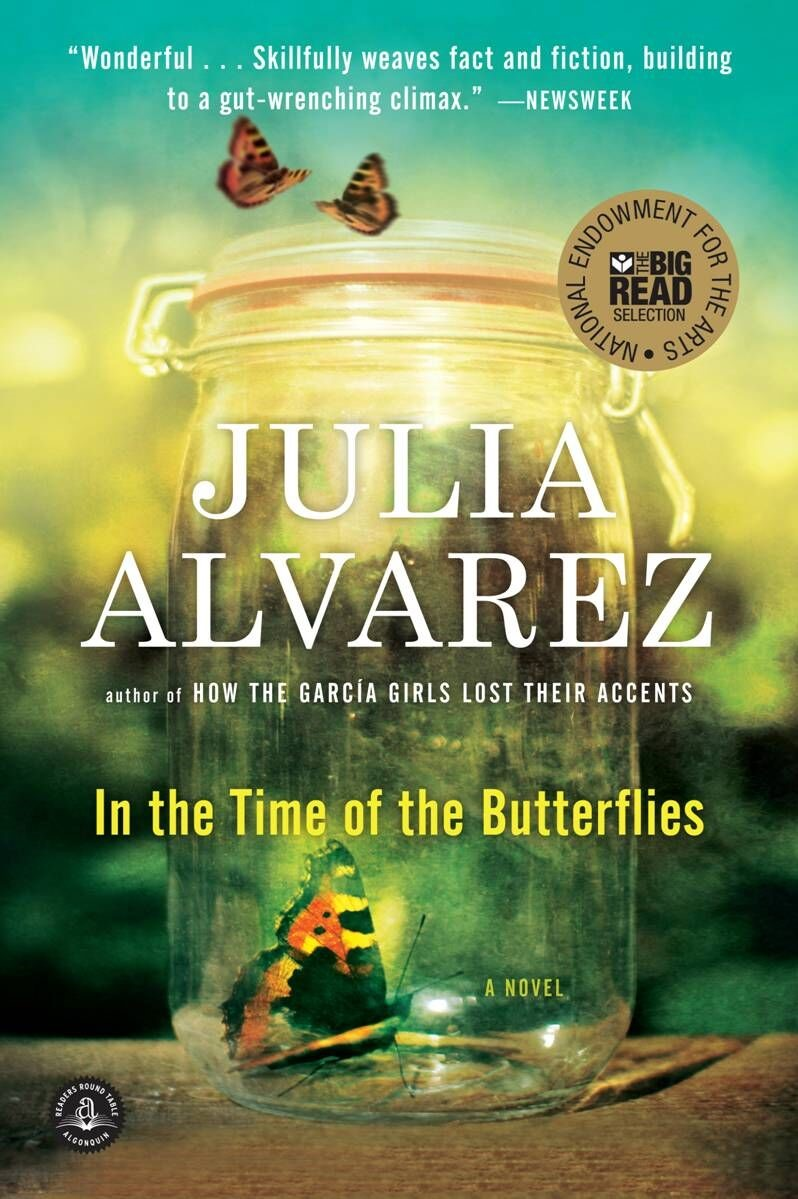Book cover with author name and book title and image of a a butterfly at the bottom of a mason jar