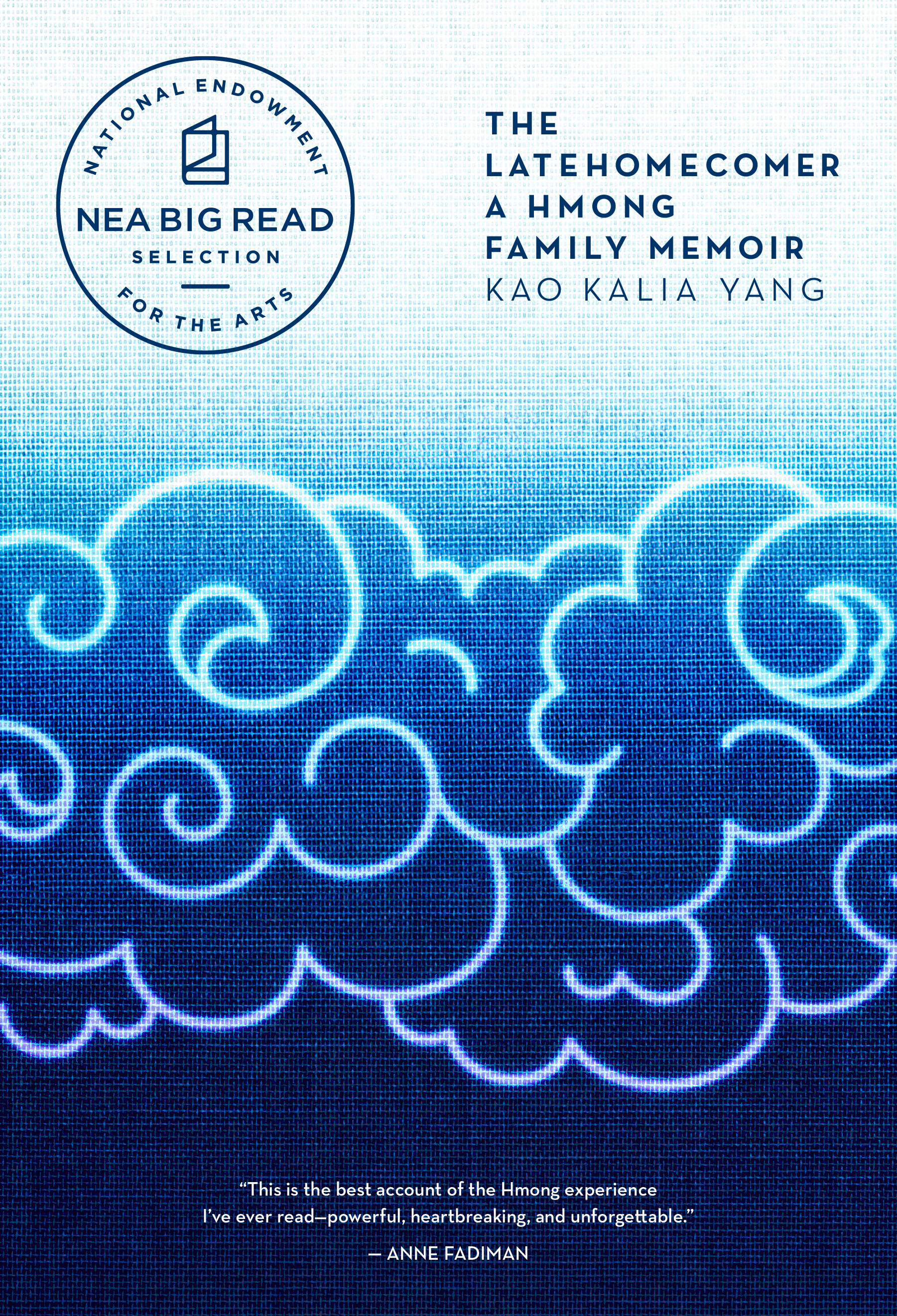 Book cover: author name and book title in the upper right corner against a blue background with calligraphy style clouds