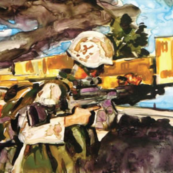 a painting of Operation Steel Curtain by Michael D. Fay