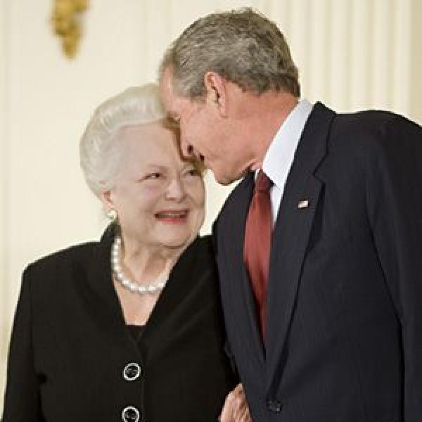 Olivia de Havilland and George W. Bush