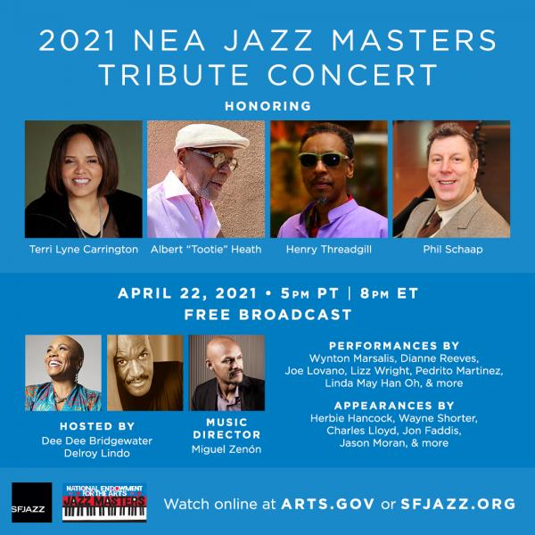 Ad for 2021 Jazz Master concert