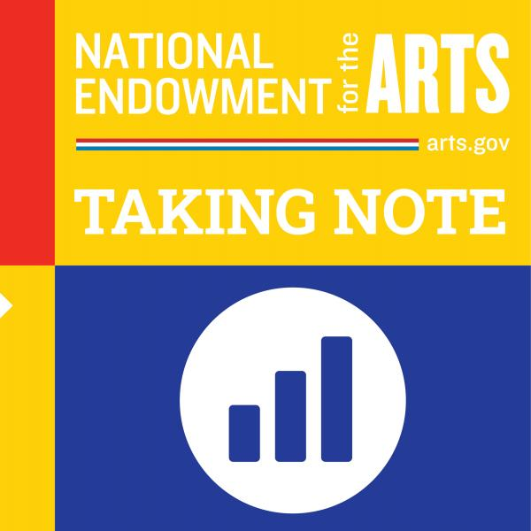 Text saying National Endowment for the Arts Taking Note