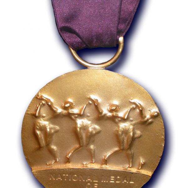 National Medal of the Arts w/ purple ribbon