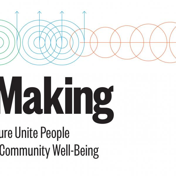 Cover image for WE-making report with geometric shapes and report name