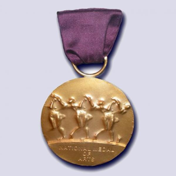 Slide with image of the National Medal of Arts