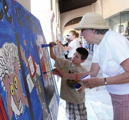 Local businesses and organizations sponsored peace-themed murals -- designed by local artists and painted by the community -- which were installed in Ajo's town plaza for the annual International Peace Day celebration