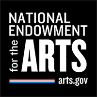 NEA LOGO: Square with National Endowment for the Arts in White on a black background