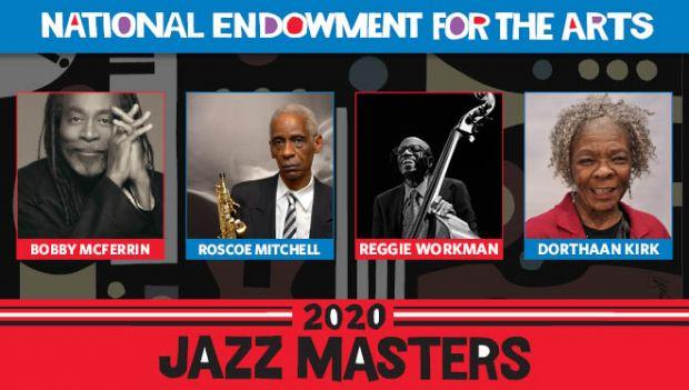 Collage of headshots of the found NEA Jazz Masters