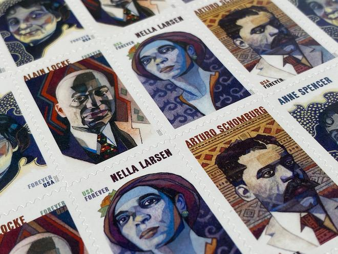 pane of USPS Voices of Harlem Renaissance Stamps