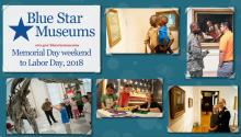 Photos of military families at museums
