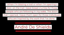 designed version of Andre De Shields quote