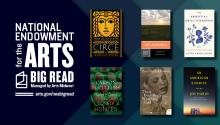 NEA Big Read logo and book covers.