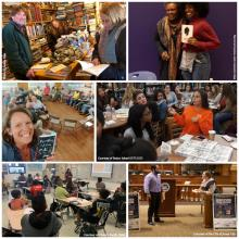 collage of photos from various NEA Big Read events