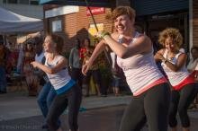 dancers perform at outdoor creative placemaking event