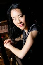 headshot of pianist Helen Sung and Asian-American woman