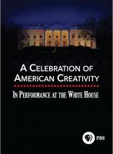 White House at night behind title American Creativity