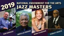 Photo collage of new NEA Jazz Masters