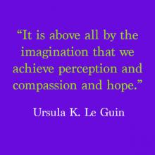 """It is above all by the imagination that we achieve perception and compassion and hope."""