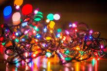 A string of holiday lights