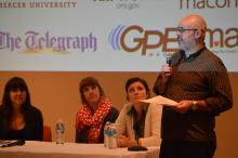arts journalism panel discussion in Macon, Georgia