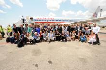 A group of people at the US Cultural Delegation visit to Cuba