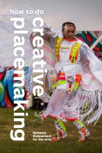 native america girl dancing at powwow