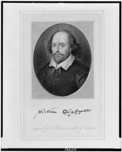 William Shakespeare / engraved by B. Holl from the print by Houbraken. Image used courtesy of the Library of Congress