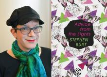 diptych of author photo for Stephanie Burt and cover of her poetry collection