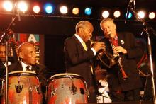 Candido Camero, Joe Wilder, and Paquito D'Rivera perform together