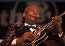 B.B. King on guitar