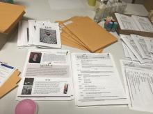 contents of packets put together by Playwrights Project for classes at correctional facilities