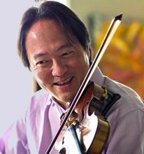 Scott Yoo with violin