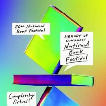Colorful poster for the completely virtual 2020 National Book Festival