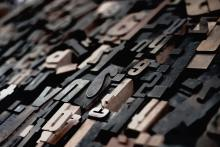 photograph of typesetting letters