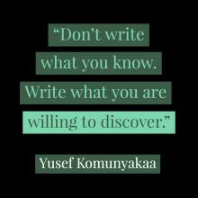 quote by Yusef Komunyakaa designed in shades of green