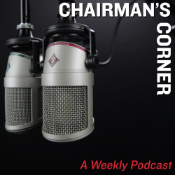 Image of two mics with the text: CHAIRMAN'S CORNER