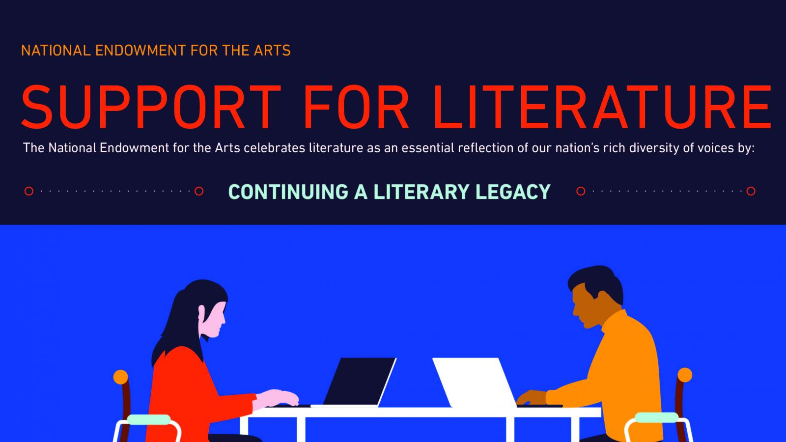 Infographic showing support for literature fellowships