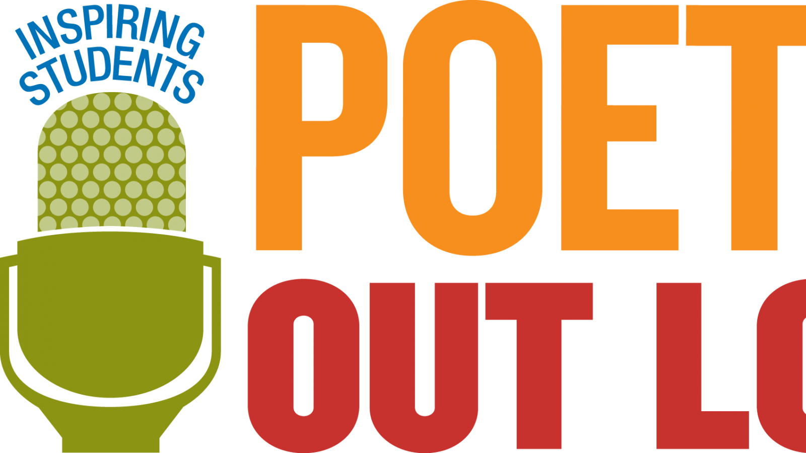Logo for the Poetry Out Loud program - a microphone and words