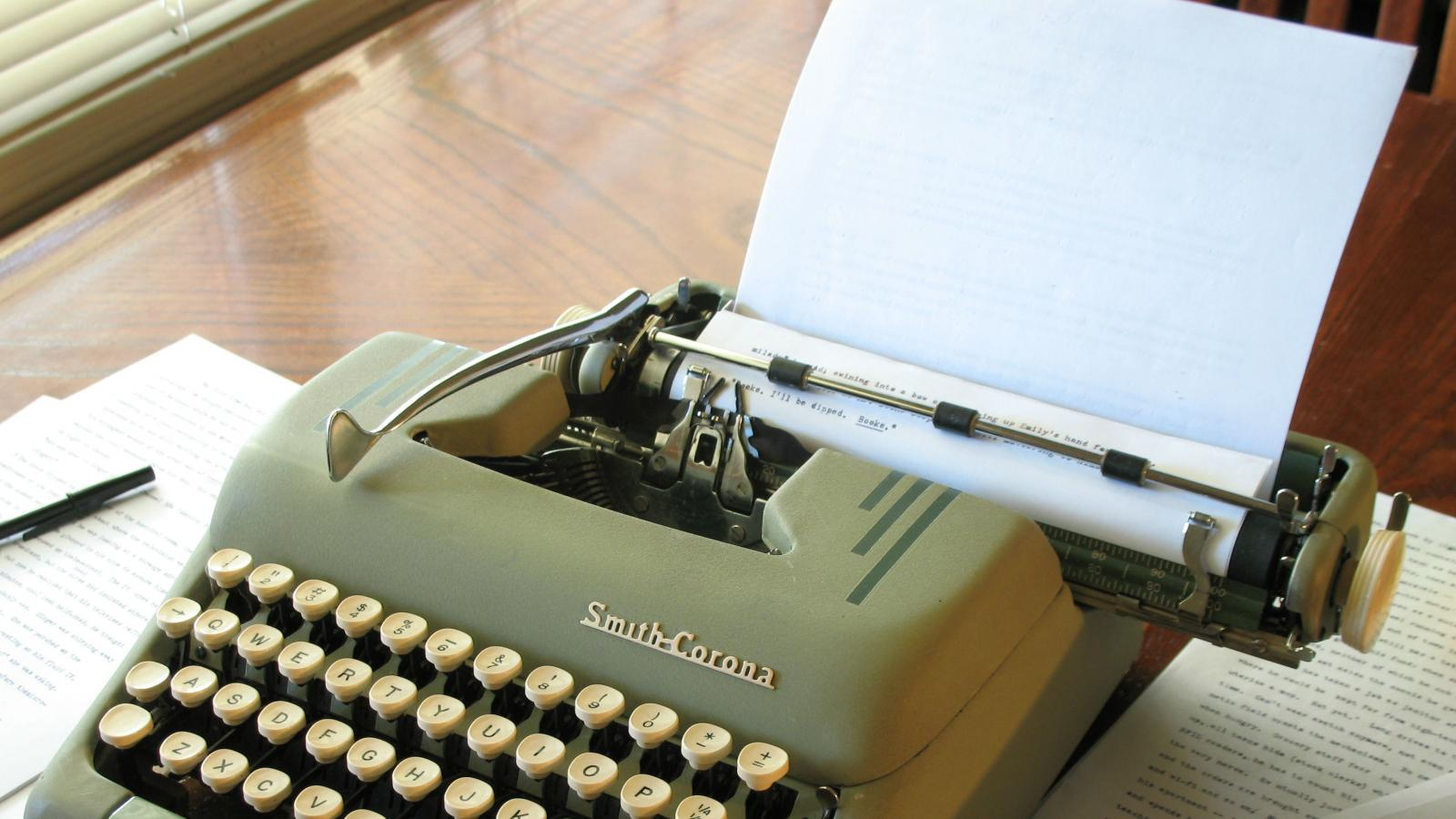 Smith Corona with manuscript