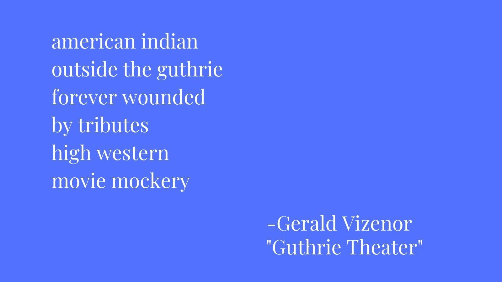 american indian outside the guthrie forever wounded by tributes high western movie mockery