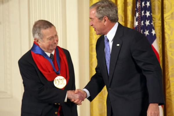 The 2007 National Medal of Arts was awarded to painter George Tooker and presented by President Bush on November 15, 2007 in an East Room ceremony