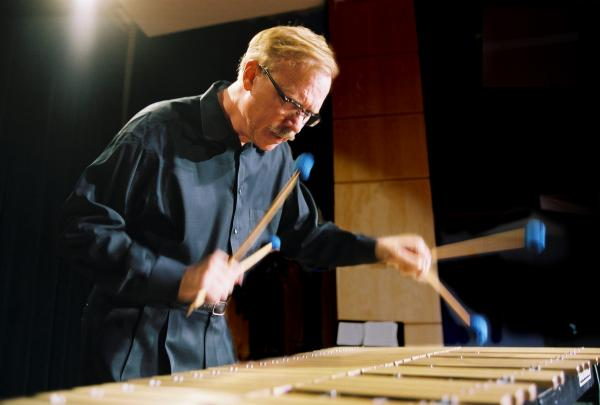 Man playing a vibraphone