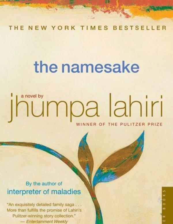Book cover: yellow background with a blue and brown colored leafrising up in the middle, title in lower case blue, author name in lowercase gold